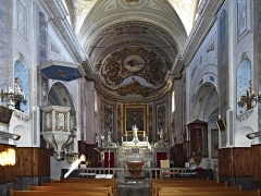 Eglise Sainte-Julie -  Nonza (Corsica) - Intérieur de l\'église Sainte-Julie