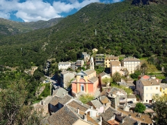 Eglise Sainte-Julie -  Nonza (Corsica - Vue du village depuis la Tour