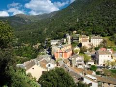 Eglise Sainte-Julie -  Nonza (Corsica) - Vue du village