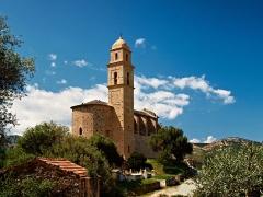 Eglise Saint-Martin -  Patrimonio (Corsica) - Église San Martinu restaurée et le cimetière