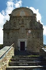 Eglise Saint-Martin -  Patrimonio (Corsica) - Façade principale de l'église San Martinu