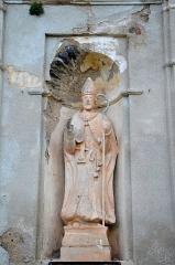 Eglise paroissiale San Nicolao -  Статуя на фасаде церкви Святого Николая (1686).
