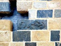 Eglise -  Santa-Reparata-di-Balagna (Corsica) - Motifs sur l'abside de l'église paroissiale