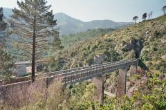Viaduc sur le Vecchio ou pont Eiffel (également sur commune de Vivario) -