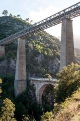 Viaduc sur le Vecchio ou pont Eiffel (également sur commune de Vivario) -  Pont du Vecchio