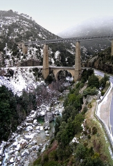 Viaduc sur le Vecchio ou pont Eiffel (également sur commune de Vivario) -  Venaco (Corsica) - Pont Eiffel sur le Vecchio (2005)