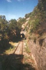 Viaduc sur le Vecchio ou pont Eiffel (également sur commune de Vivario) -  The mainline of the corsean railways in the view of the conductor, France.