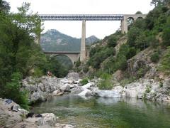 Viaduc sur le Vecchio ou Pont Eiffel (également sur commune de Venaco) - English: Vecchio bridge