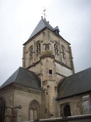 Eglise - Français:   Détail de la tour