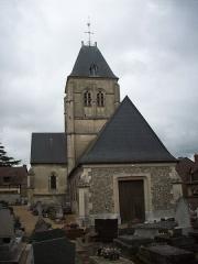 Eglise - Français:   Vue ouest, depuis le cimetière