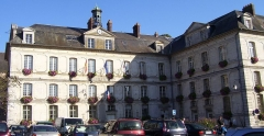 Ancienne abbaye Notre-Dame - English: Town hall of Bernay (Eure, France).