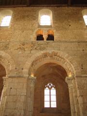 Ancienne abbaye Notre-Dame - Deutsch: Mitteschiffwand der Abteikirche von Bernay, Normandie, Frankreich