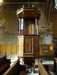 Eglise Notre-Dame-de-la-Couture - English: Pulpit in the church Notre-Dame de la Couture in Bernay (Eure, France).