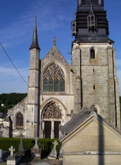 Eglise Notre-Dame-de-la-Couture - English: The basilica Notre-Dame de la Couture in Bernay (Eure, France).