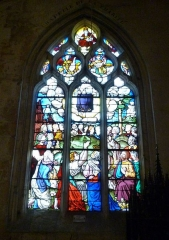 Eglise Notre-Dame-de-la-Couture - English: 16th century window of the church Notre-Dame de la Couture in Bernay (Eure, France). It shows the Ascension.