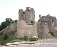 Ruines du donjon - Deutsch: Donjon in Conches-en-Ouche im Département Eure in Frankreich