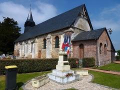Eglise - English: Duranville (Eure, Fr) église et monument aux morts