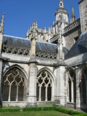 Cathédrale Notre-Dame -  Cathédrale d'Evreux, Eure, Haute-Normandie :cloître
