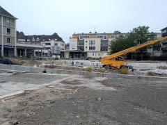 Rempart gallo-romain - Français:   Les travaux de réhabilitation de la place Sepmanville (2018) doivent mettre en valeur une nouvelle partie des vestiges.