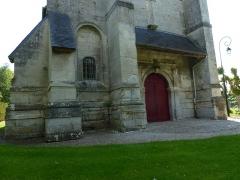 Eglise - English: Goupillières (Eure, Fr) église Notre-Dame, base de la tour