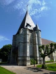 Eglise - English: Goupillières (Eure, Fr) église Notre-Dame, la tour