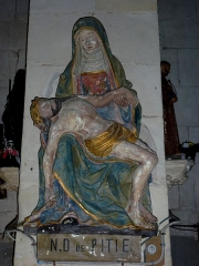 Eglise - English: Iville (Eure, Fr) église, statue pieta