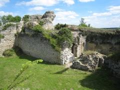 Château -  L'intérieur des ruines du donjon du Château d'Ivry la bataille