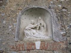 Eglise - English: Detail of Jouy-Sur-Eure church: pieta