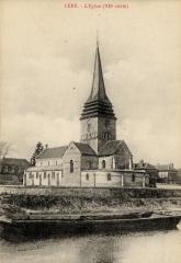 Eglise Saint-Ouen -  Église Saint-Ouen de Léry (Eure, France). Carte postale vers 1910. Photographe inconnu.