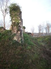 Ruines du château fort - Français:   Château-fort de Montfort-sur-Risle.