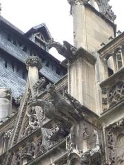 Eglise Notre-Dame-des-Arts - Français:   Gargouilles sur la face sud.