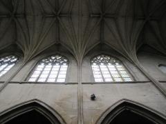 Eglise Notre-Dame-des-Arts - English: Nave clerestory with vaults, Notre-Dame-des-Arts, Pont-de-l'Arche