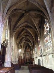 Eglise Notre-Dame-des-Arts - English: South nave aisle, Notre-Dame-des-Arts, Pont-de-l'Arche