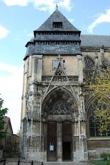 Eglise Notre-Dame-des-Arts - English: South portal, Notre-Dame-des-Arts, Pont-de-l'Arche