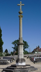 Eglise Saint-Germain - English: Cemetery cross on the cemetery Saint-Ouen in Saint-Germain-Village (Eure, France).