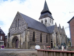 Eglise - English: The church Notre-Dame of Serquigny (Eure, France).