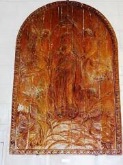 Eglise - English: Serquigny (Eure, Fr) église Notre-Dame, relief
