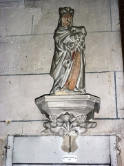 Eglise - English: Serquigny (Eure, Fr) église Notre-Dame, statue Vierge à l'Enfant
