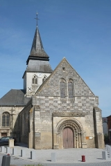 Eglise - Deutsch: Kirche Notre-Dame in Serquigny in der Normandie