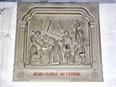 Eglise - English: Serquigny (Eure, Fr) église Notre-Dame, chemin de croix, station 02