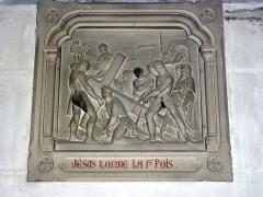 Eglise - English: Serquigny (Eure, Fr) église Notre-Dame, chemin de croix, station 03