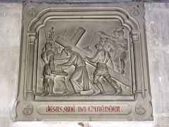 Eglise - English: Serquigny (Eure, Fr) église Notre-Dame, chemin de croix, station 05
