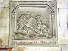 Eglise - English: Serquigny (Eure, Fr) église Notre-Dame, chemin de croix, station 09