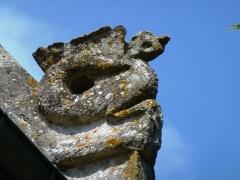 Eglise - English: Le Tilleul-Othon (Eure, Fr) église Saint-Germain, detail, sculpture sur le toit