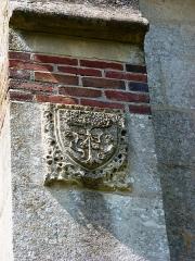 Eglise - English: Le Tilleul-Othon (Eure, Fr) église Saint-Germain, detail, tilleuil en relief