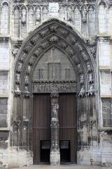 Eglise Notre-Dame, actuellement collégiale - Español: Vernon. Notre-Dame. Portada principal.