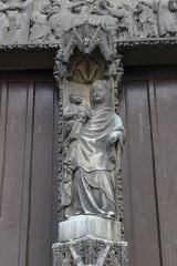 Eglise Notre-Dame, actuellement collégiale - Español: Vernon. Notre-Dame. Parteluz de la portada principal.
