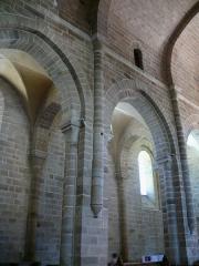 Ancienne abbaye Saint-Etienne - Abbaye d'Aubazine - Elévation de la nef
