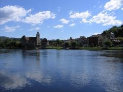 Eglise Notre-Dame ou des Pénitents - Deutsch: Die Dordogne bei Beaulieu-sur-Dordogne mit der Chapelle des Pénitents