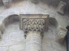 Eglise Saint-Martin - English: Capital of the south apse chapel, collegiate Saint Martin, Brive la Gaillarde, Corrèze, Limousin, France